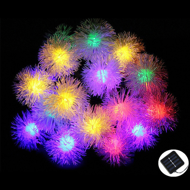5 m 20 300leds impermeable edelweiss secuencia solar del led luces para la fiesta de navidad decoración de la lámpara de iluminación al aire libre free gratis