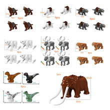 Animal series Saber-toothed tiger Polar bear Figures Building Blocks Set Bricks For Children Toys Christmas Gifts(China)