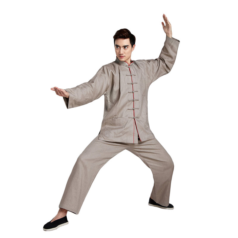 G-LIKE Chinese Style High Quality Cotton Linen Tang Suit Long Sleeve Martial Arts Sets Kung Fu Tops Pants