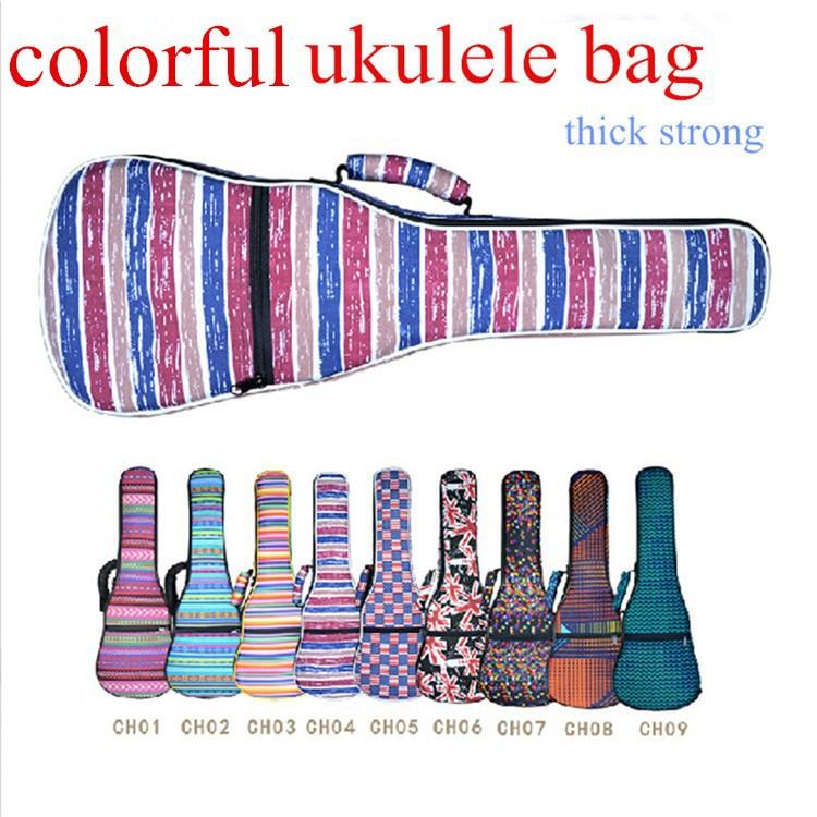 colorful ukulele bag