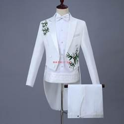 2018 Новый Brond Англия джентльмен из двух частей Белый Жених Дешевые Свадебные смокинги костюмы для мужчин Классический Фрак с брюками Slim Fit