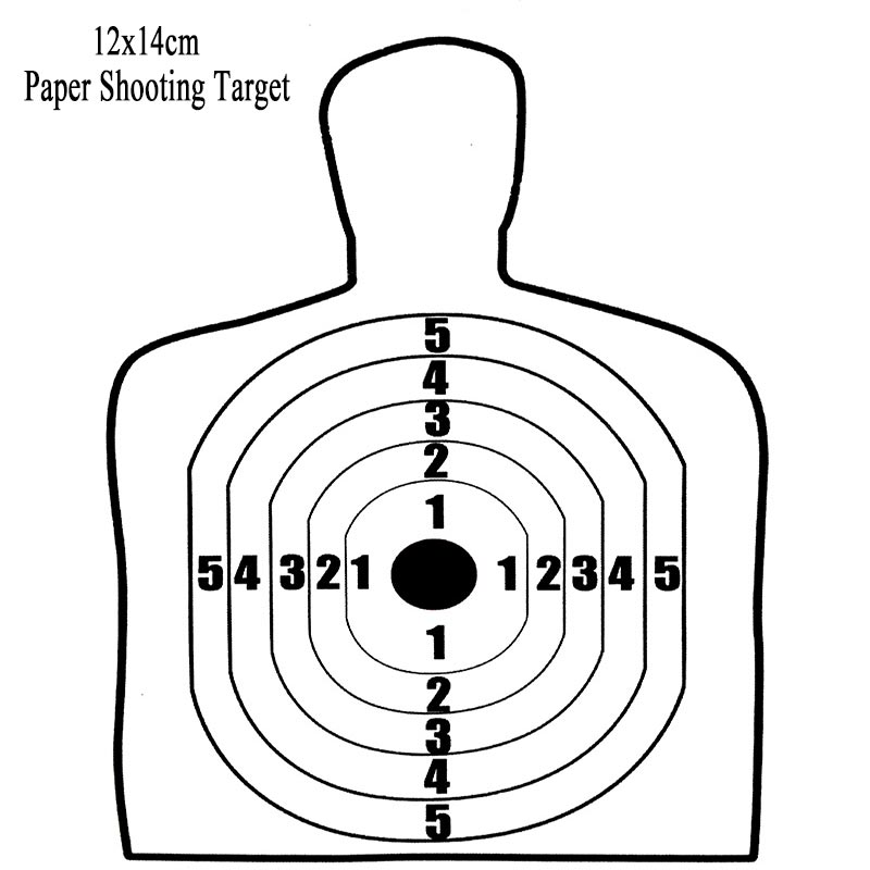 12x14cm Archery Target Paper 3.0 Airsoft Silhouette