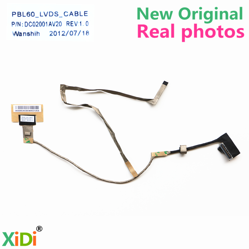 NEW PBL60 DC02001AV20 LVDS CABLE FOR ASUS A53U K53T X53B X53U K53U K53TK LCD LVDS CABLE new palmrest upper case bezel top case touchpad cover for asus k53 k53t k53u x53u x53b k53b a53u x53z c cover ap0k3000200