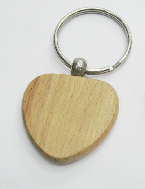 UnermüDlich Großhandel 50 Stücke Heart Blank Holz Schlüsselanhänger Förderung Key Id 1,6 kostenloser Versand Spiegel
