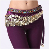 Belly Dance Costumes Senior Velvet Gold Coins Belly Dance Belts For Women Belly Dance Costume Hip