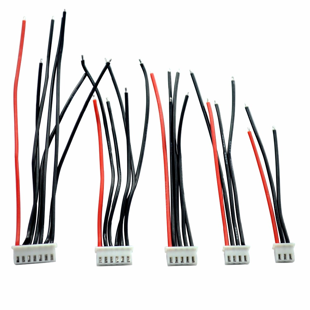JMT 1pc 5Pcs//set 2S 3S 4S 5S 6S LiPo Battery Balance Charger Silicone Cable Wire