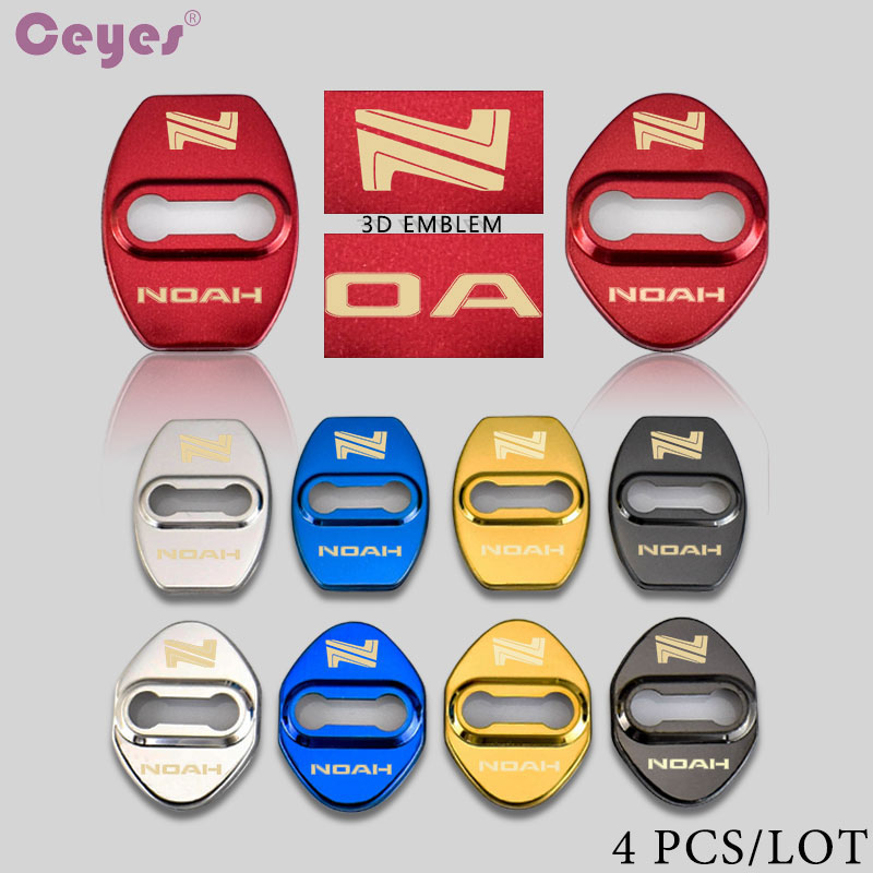 Ceyes 3D Design Car Styling JDM Auto Door Lock Cover 4pcs Case For Toyota Noah Avensis Camry Corolla Car Accessories Car-Styling