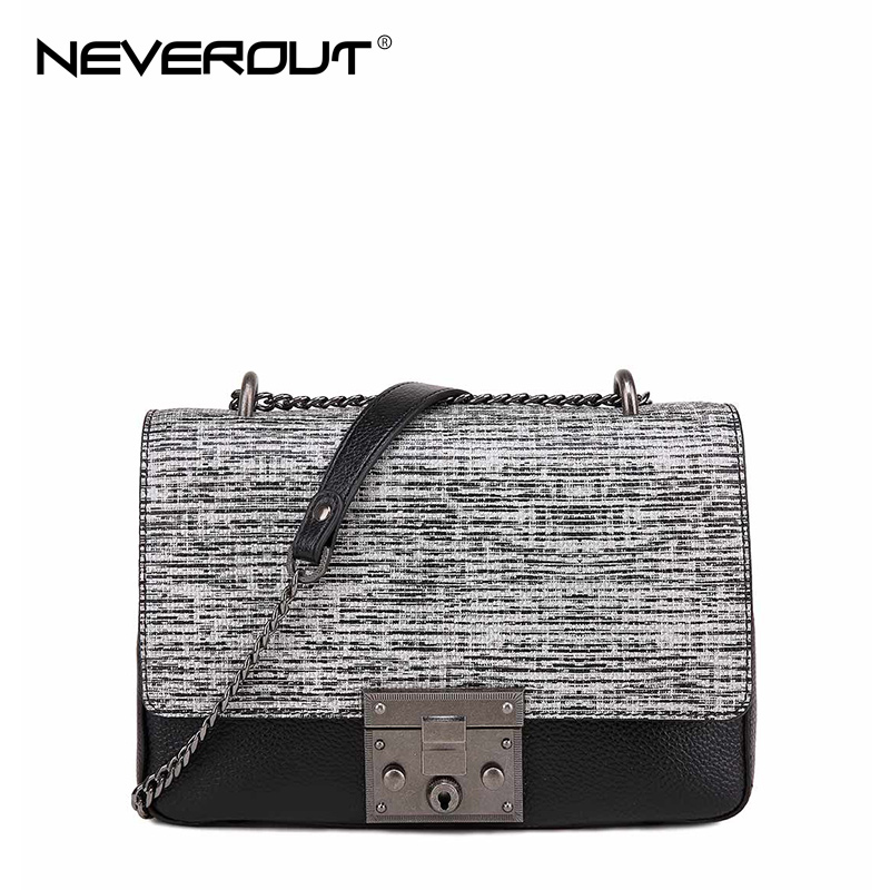 NeverOut Stone Pattern Flap Bag Genuine Leather Shoulder Bags for Women Fashion Messenger Bag High Quality Women Crossbody Bags все цены