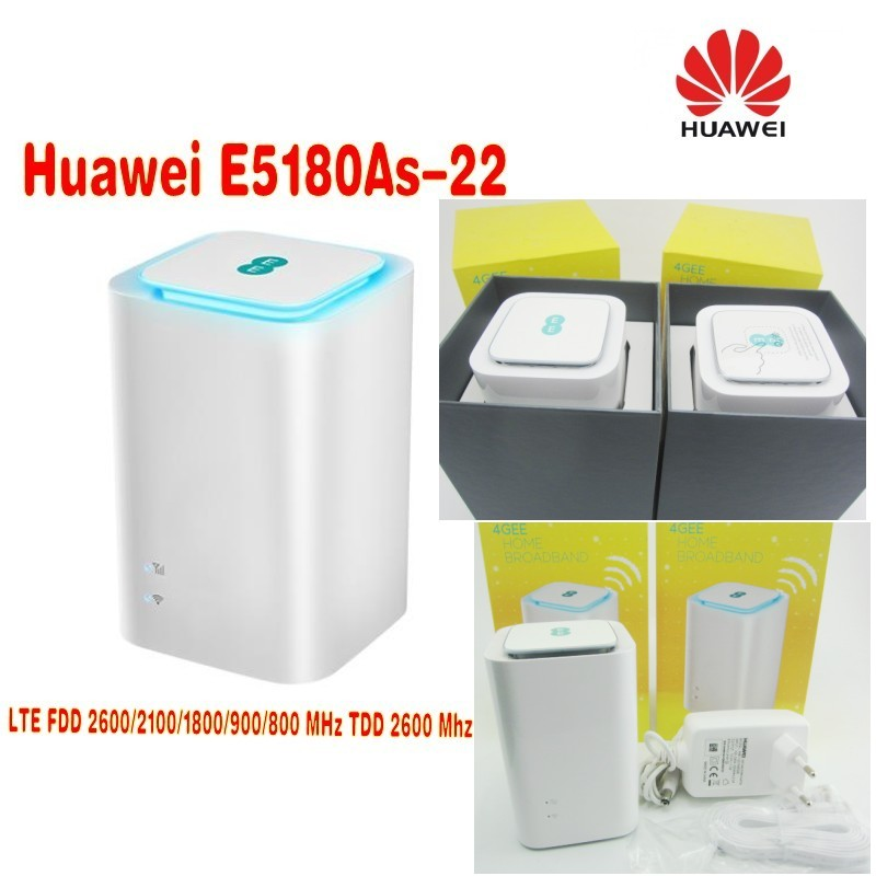 Unlocked Huawei E5180 E5180as-22  4G LTE Cube WiFi Hotspot Home wireless router unlocked huawei carfi e8377 hilink lte hotspot 4g lte cat5 12v car wifi router free shipping