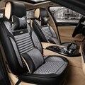 3d cubierta de asiento de coche cojín de cuero de algodón mercerizado para jeep commander brújula grand cherokee wrangler cubierta de coche