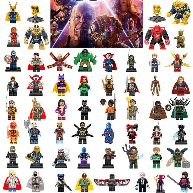 Avengers3 אינפיניטי מלחמת Legoing מארוול סופר גיבורי באטמן איש ברזל תאנסו האלק דמויות אבני בניין ילדי צעצועי לבני Legoings
