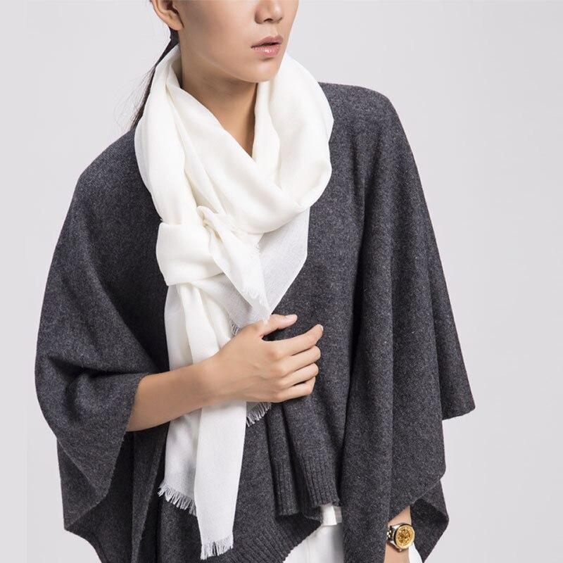Click here to Buy Now!! Livraison Gratuite De Haute Qualité Couleur Pure  Laine Echarpes Femmes 220 Cm Femelle ... a2200ae0f46