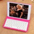 Nuevo llega ultra delgado teclado giratorio del soporte del tirón de casos para apple ipad mini 4 con teclado bluetooth inalámbrico