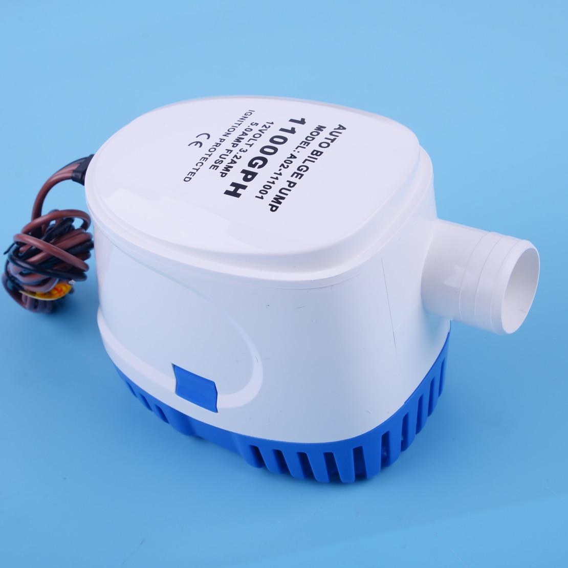 Pompe à eau automatique Submersible automatique de cale de CITALL 12 V 1100GPH 3.2A avec le commutateur de flotteur pour les coques marines de bateau/réservoirs d'appât de cale