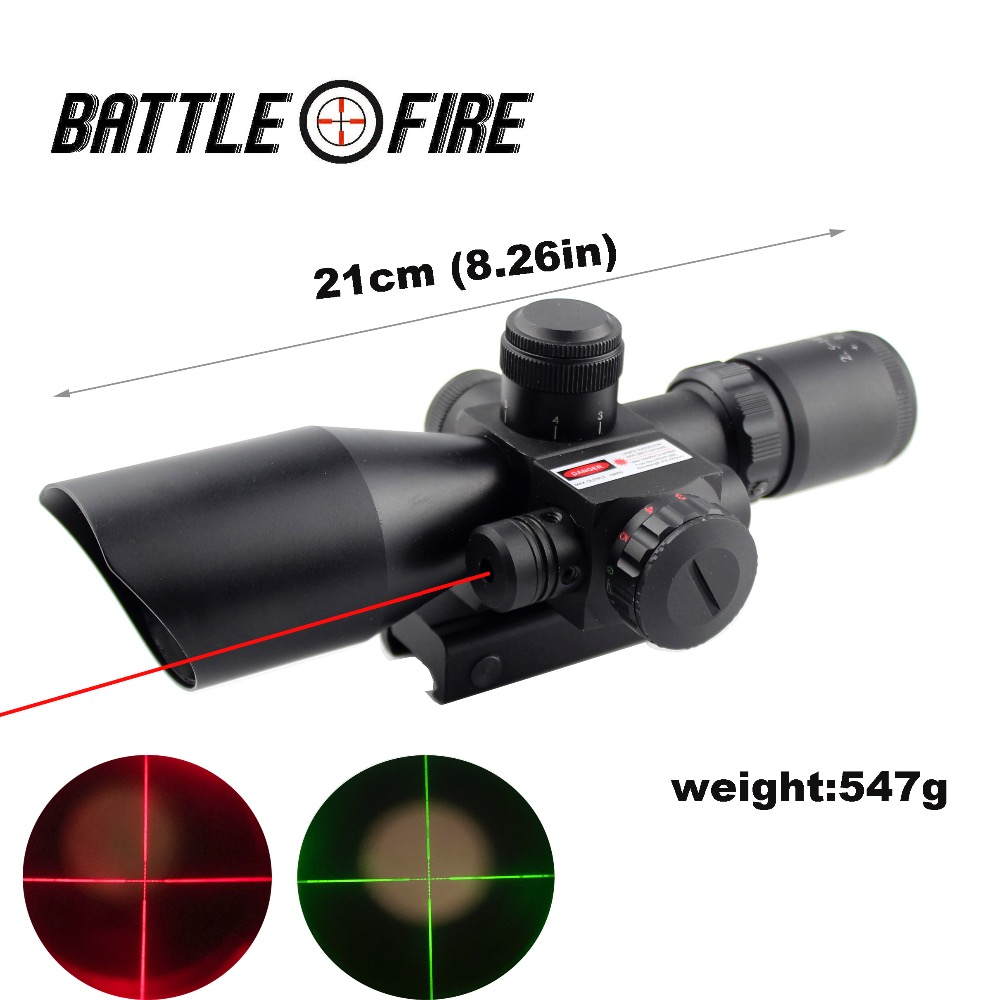 Hunting Rifle Scope 2.5-10x40   Red Green Illuminated Mil-dot Gun RifleScopes Optics Sight Scope