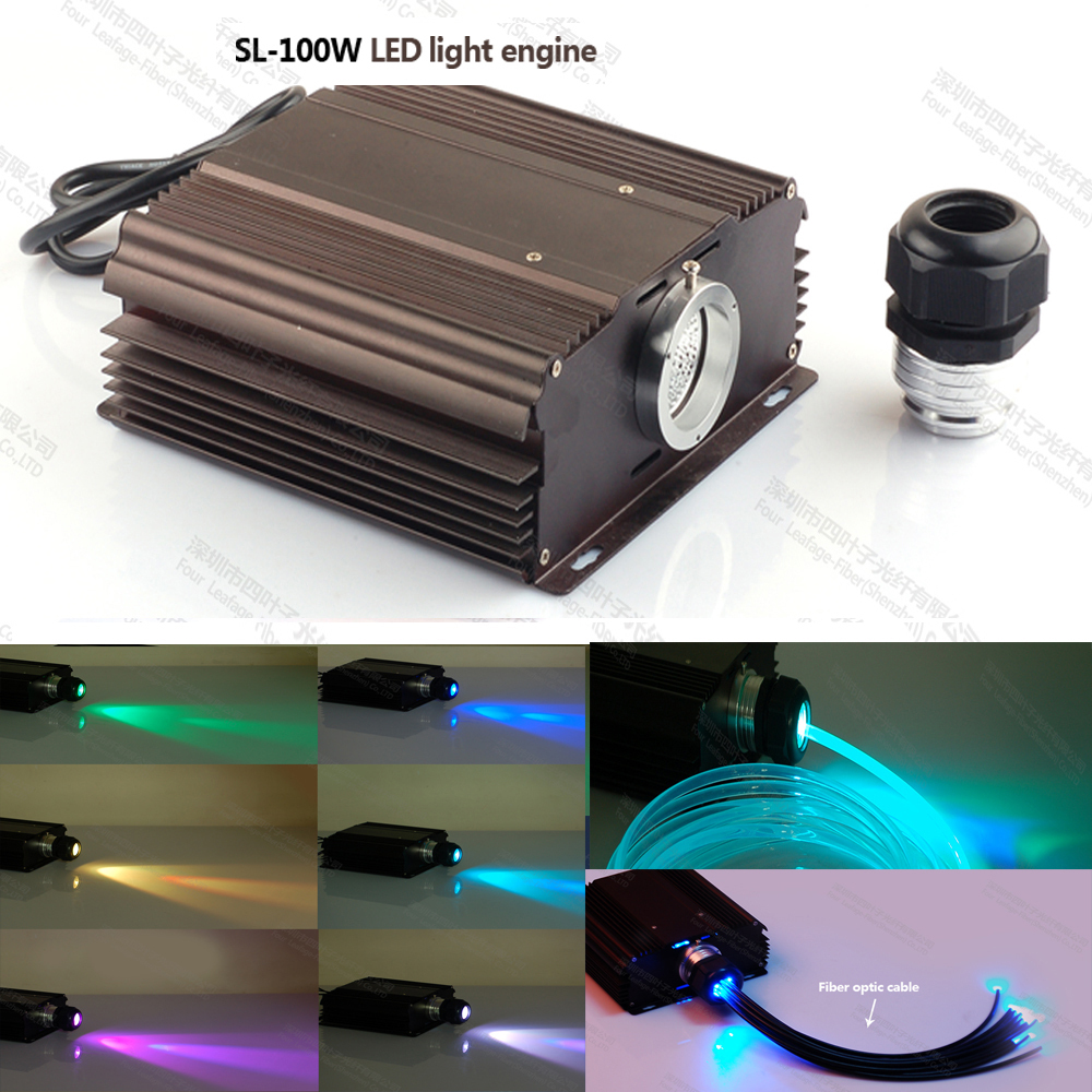 100w led light fiber optic power supply light engine with rgb 24key remote control in optic. Black Bedroom Furniture Sets. Home Design Ideas