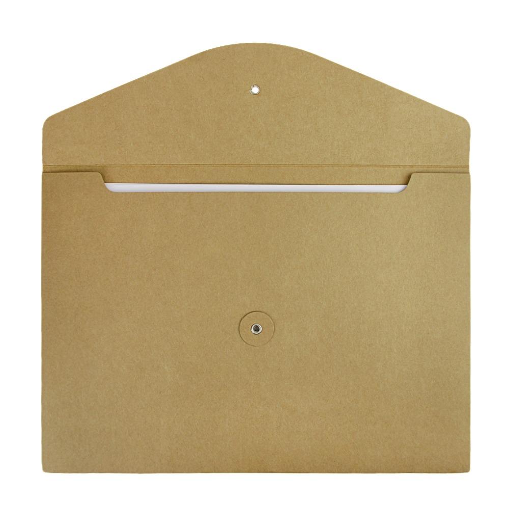 10pcs Kraft Paper File Folder A4 Document Bill Resume Storage ...
