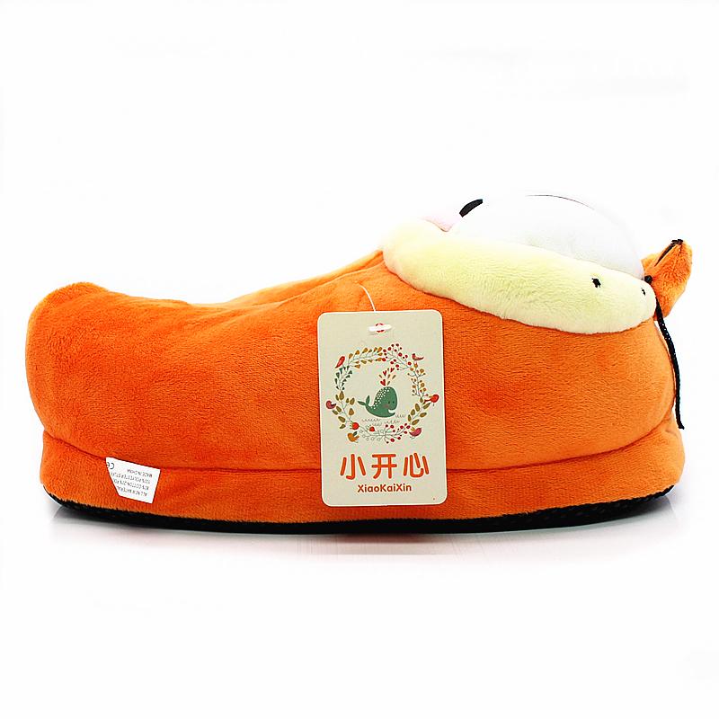 6df8715af5170 New Winter Garfield Style Slippers for Men Women Cute Cartoon Warm Plush  Furry Garfield Slipper Cotton Home Shoes Woman Flats - us39