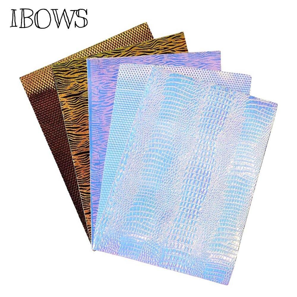 22 см * 30 см Ткань Синтетическая кожа лист стереоскопического змея Зебра шаблоны Pu ткань для DIY Мини волосы бант материалы ручной работы