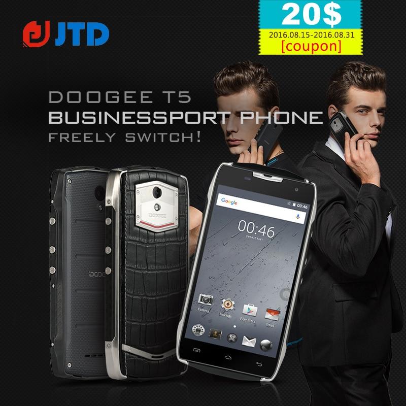 Цена за Оригинал Doogee T5 Lite 5.0 Дюймов 4500 мАч Быстрая Зарядка Android 6.0 Quad Core MTK6735 2 ГБ RAM 16 ГБ ROM 8MP Камера IP67 Смартфон