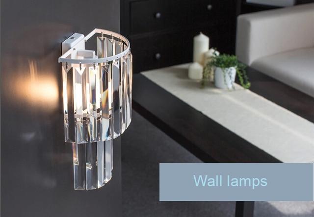 Gratis verzending moderne kristallen wandlamp wandverlichting voor ...