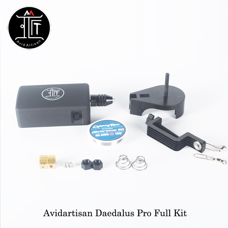 Avidartisan Daedalus Pro Full Coil DIY Kit Clapton Wire DIY Tool Powered By Dual 18650 Battery Smart Coil Jig Vs Coil Master