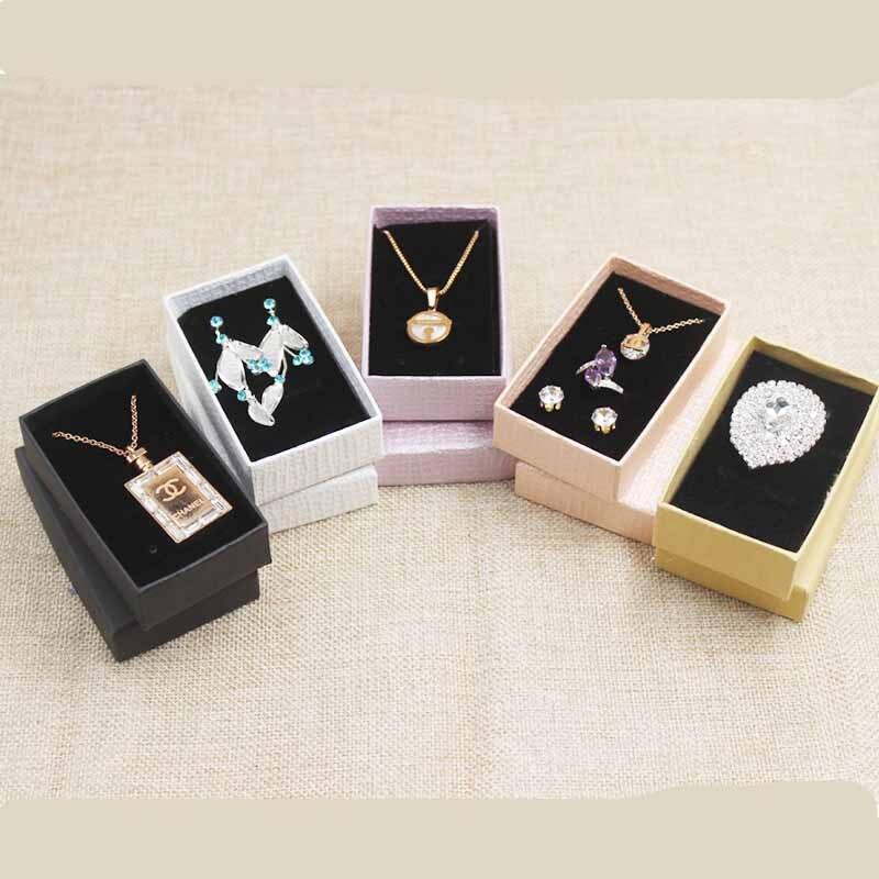 1lot=24pcs Multi Color Jewelry Box .Blank Jewelry Set Diaplay Box .Cardboard Jewelry Charm/bracelet /ring/necklace/earring Box