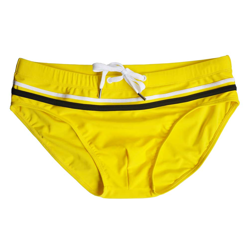 Topdudes.com - Hot Men's Patchwork Sexy Low Waist Summer Briefs Swimwear