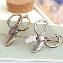hot sale 2 color DIY jewelry 52 32 MM punk Style Ornaments Accessories Scissors Alloy unisex Pendants bracelet necklaces