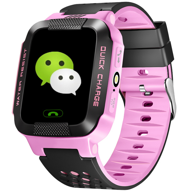 GPS Tracker Watch For Kids SOS Emergency Anti Lost GSM Smart Watches Mobile Phon