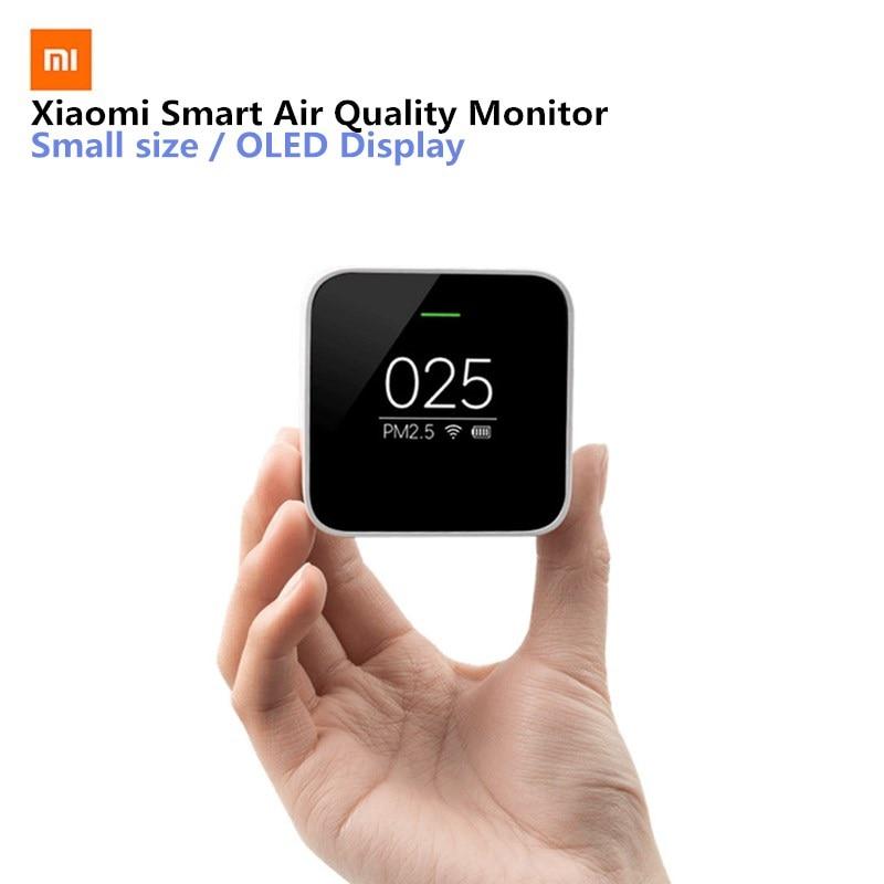 Xiaomi Mijia PM2.5 Detector Xiaomi Air Quality Tester OLED Screen Smart Sensor Smart Control APP Adapt Mi Air Purifier For home цены