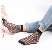 20172 pairs  Fashion Harajuku Solid Black Breathable Fishnet Socks Cool Female Sexy Nets Socks Women Ladies Girls High Heels Sox
