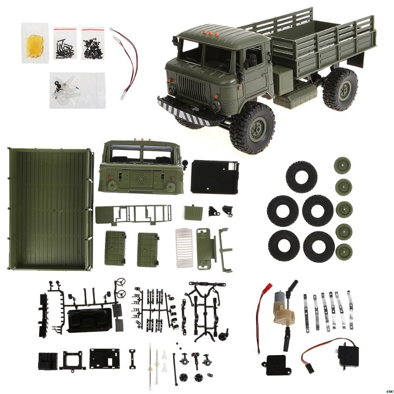 WPL B 24 1 16 2 4G Mini Off road RC Car Military Truck DIY Assembly