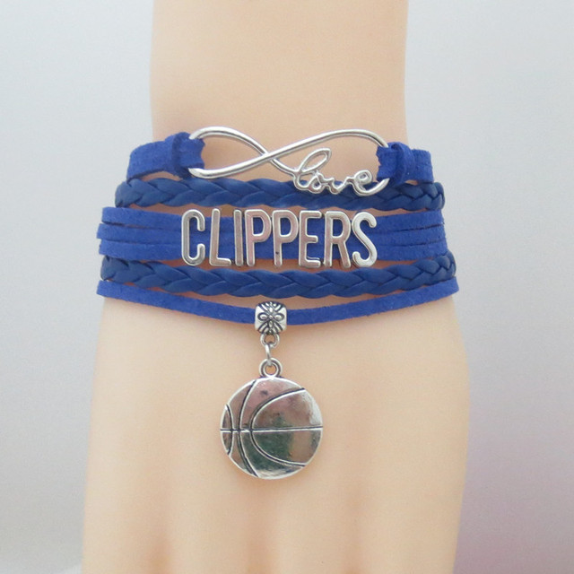 Infinity Love Clippers Basketball Bracelets Charm Souvenir Sign