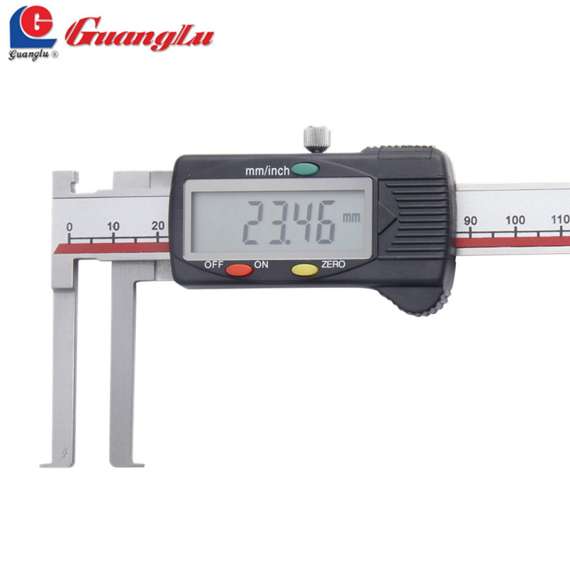 GUANGLU Inside Groove Digital Caliper 8-150mm Vernier Calipers Gauge Paquimetro Measuring Tools 3pcs brass internal hex head socket 1 2 pt thread pipe plug fitting