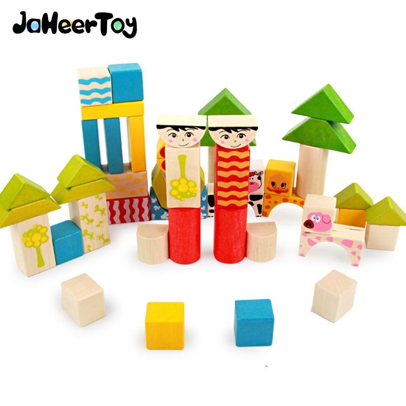 JaheerToy Baby Educational Toys Creature Blocks Wooden ...
