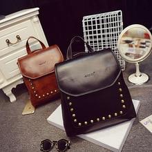 Women Backpack vintage leather school bag hot sale women famous designer small shoulder bags Top handle Backpacks Herald Fashion