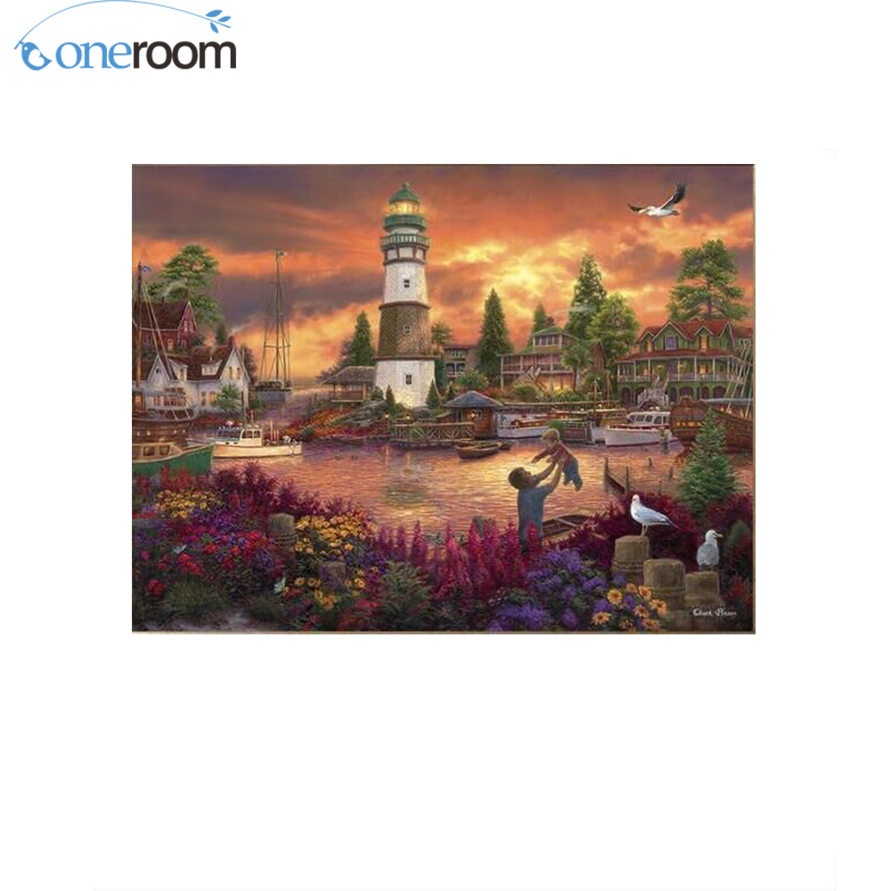 N2TH Forest sundown River chinese Stitch,DIY 14CT similar DMC Cross Stitch,Sets For Embroidery Kits Counted Cross-Stitching