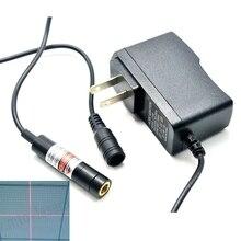 цена на 20mw 650nm Cross Red Laser Module Lights Printing/Sewing Machine Positioning w 5V AC Adapter