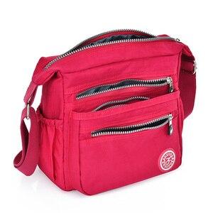 النايلون المرأة حقيبة ساع صغيرة محفظة حقيبة كتف الإناث Crossbody حقائب عالية الجودة بولسا حمل الشاطئ