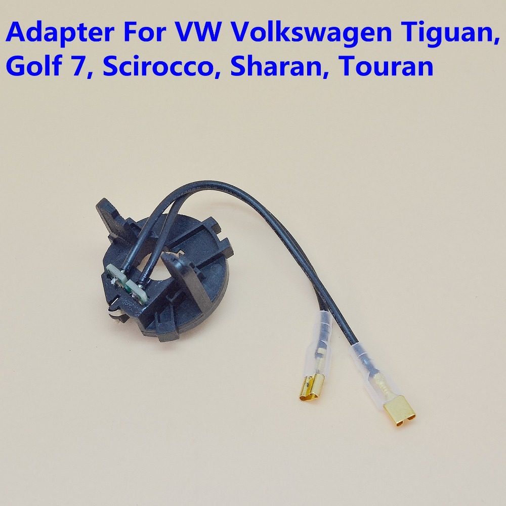 Free shipping 4 pcs/lot HID Xenon Headlamp bulb Adapter for VW Volkswagen Tiguan, Golf 7, Scirocco, Sharan, Touran,Lamp Base carking cs021 car h7 hid xenon head bulb adapter sockets for volkswagen mk5 golf jetta 2 pcs