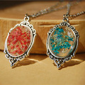 Pendant Necklaces For Women Colorful Flowesr Metal Chain Jewelries Neck Accessories Wholesale 2016 Hot Jewelry Free Shipping
