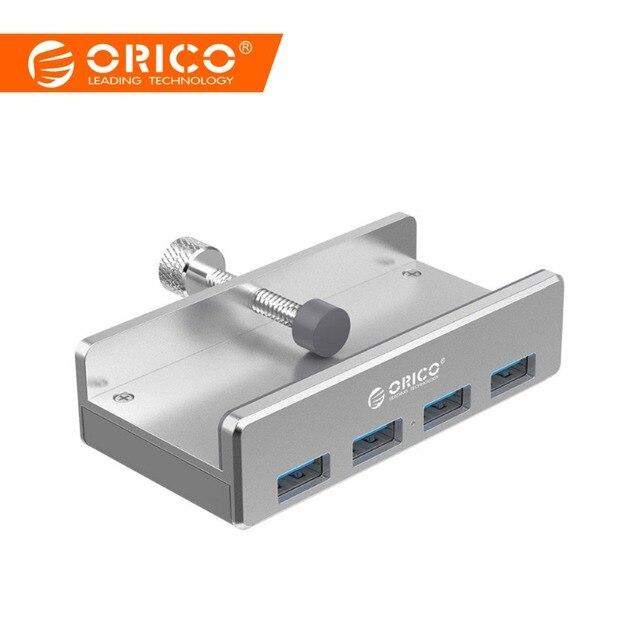 ORICO Aluminum 4 Ports USB 3.0 HUB High Speed USB Splitter Adapter Clip-type HUB for Desktop Laptop Clip Range 10-32mm MH4PU