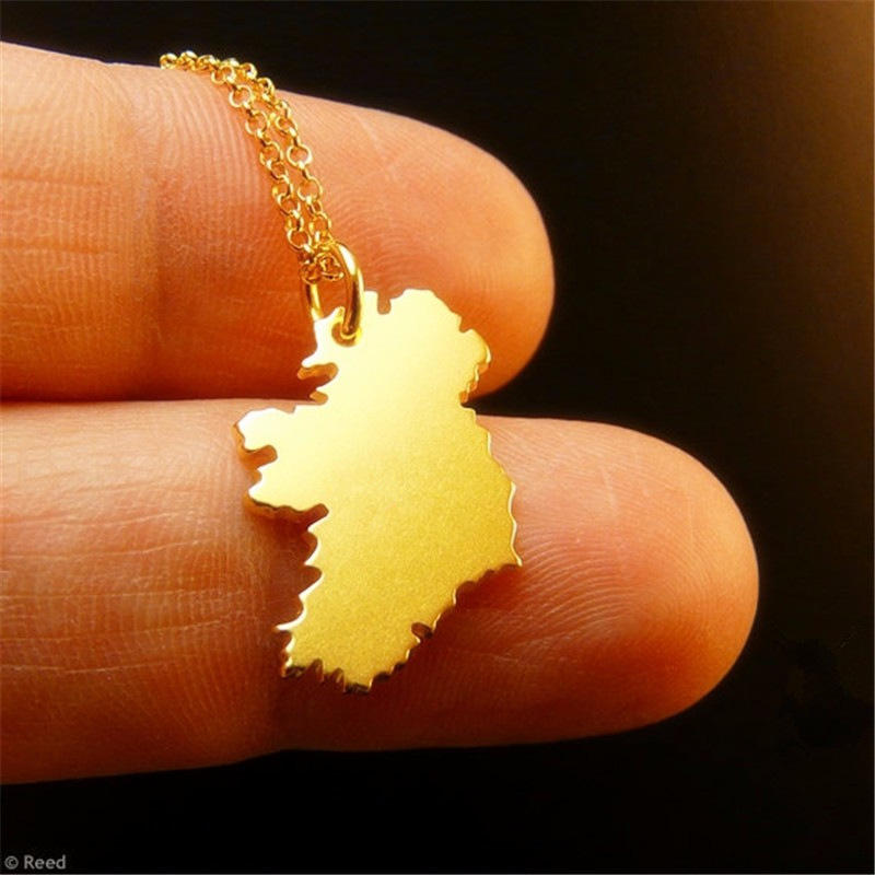Sykesha 2018 Hot Selling Ireland Map States Pendant Necklace Ireland National Map Charm Necklace Patriot Jewelry Christmas Gift ...