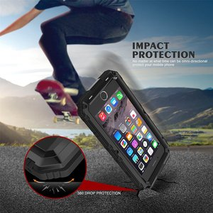 Image 3 - Waterproof IP68 Shockproof Heavy Duty Hybrid Tough Rugged Armor Metal Phone Case for iPhone 8 6 6s 7 Plus X 5 5s SE Cover Coque