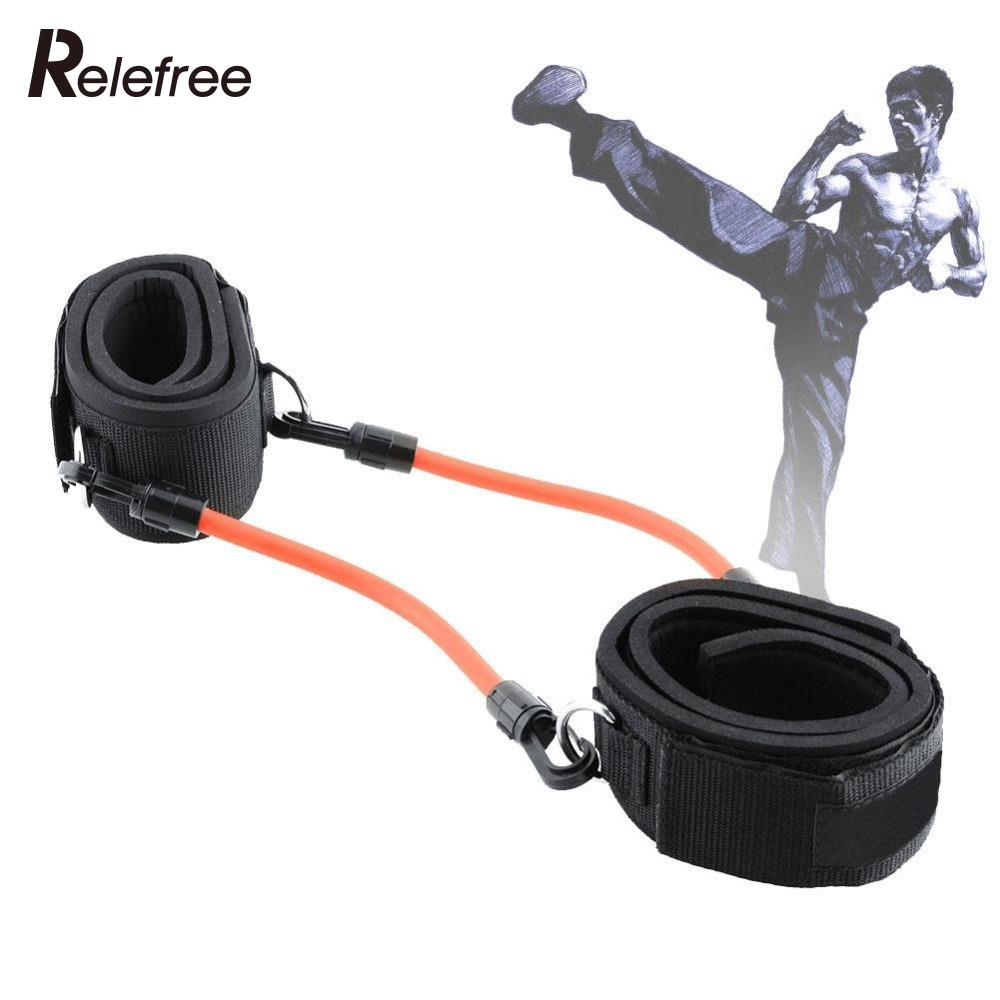 4 Resistance Tube Workout Leg Fitness Strength Training Kinetic Bands For Power Kick Thai Punch Taekwondo Ankle Straps Enthusiastic 2
