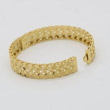 Классический женский браслет с полым дизайном желтое золото