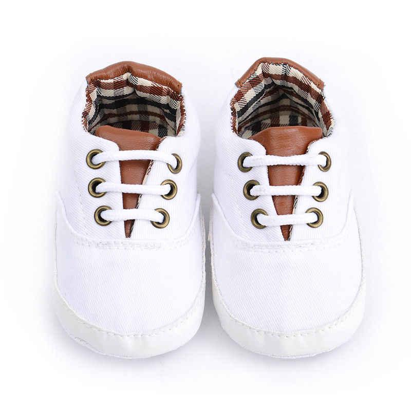 2019 Bebek Yaz Ayakkabı Yenidoğan Bebek Kız Erkek Rahat Yay kaymaz Ayakkabı Ekose Patchwork Yumuşak Taban Ayakkabı Prewalker 0-18 M