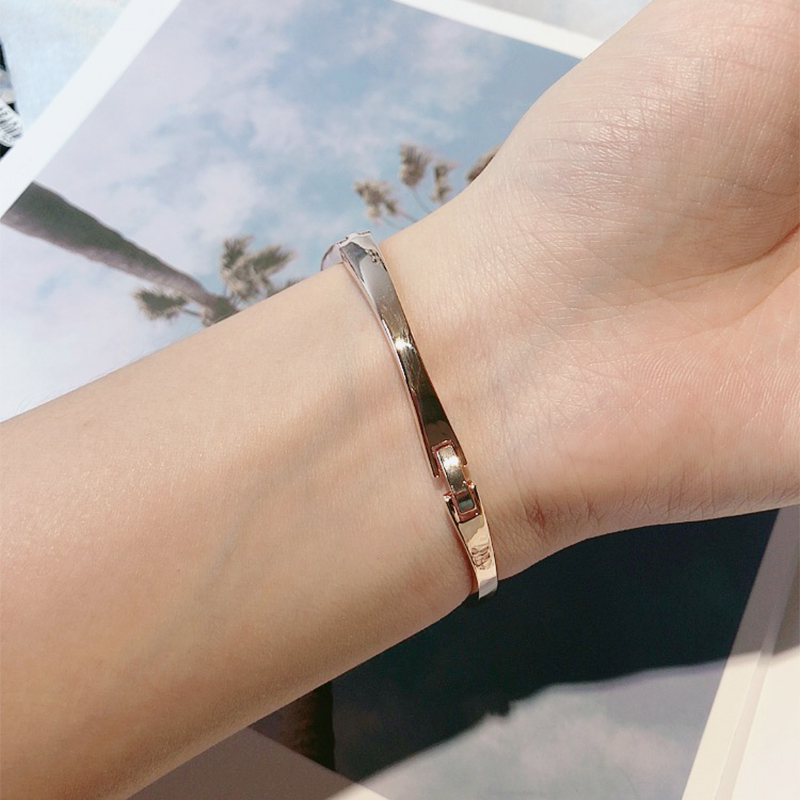 Fashion Geometric Rhinestone Bangles Gold Color Cuff Bracelet For Women Bijoux Fine Gift Jewelry Crystal Bangle Drop Shipping