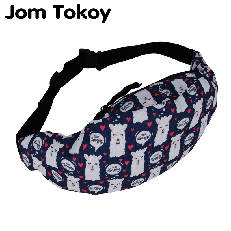 Jom Tokoy New Colorful Waist Bag For Men Fanny Packs Style Belt Bag Alpaca Women Waist Pack Travelling Mobile Phone Bags Yab954